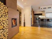 Modern kitchen and drawing room